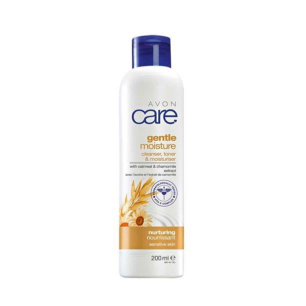 Avon Care Čistící pleťové mléko 3v1 s výtažky z ovsa a heřmánku 200ml - citlivá pleť
