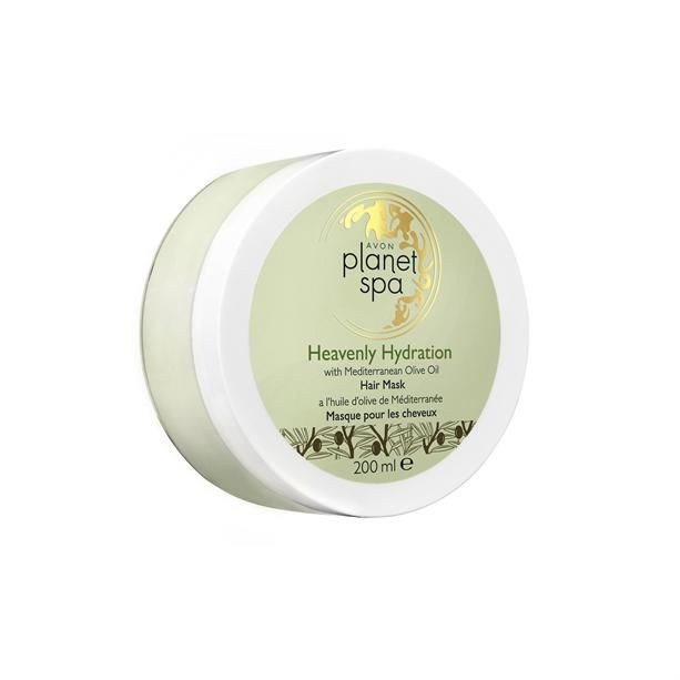 Hydratační maska na vlasy s olivovým olejem Planet Spa - (Heavenly Hydration with Mediterranean Olive Oil Hair Mask) - 200ml Avon