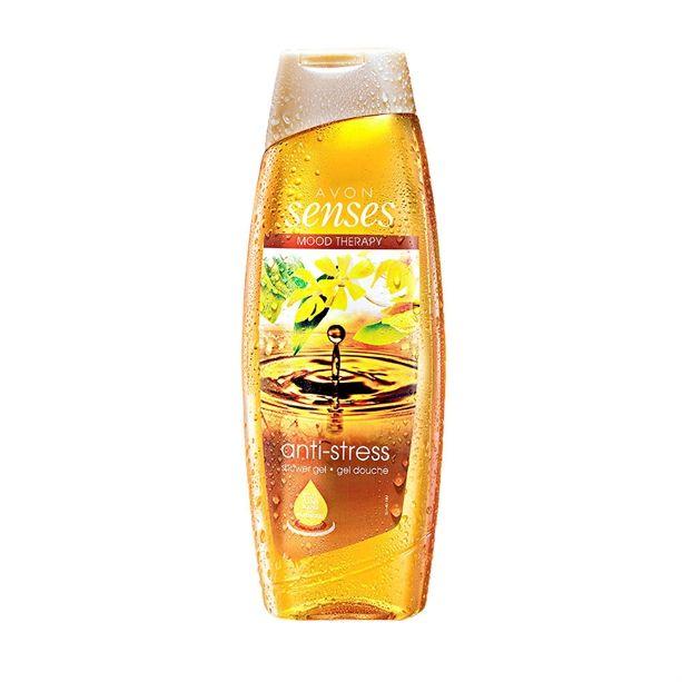 Hydratující sprchový gel Anti-Stress ylang-ylang a pačuli 500ml s přírodními květinovými a ovocnými výtažky Avon