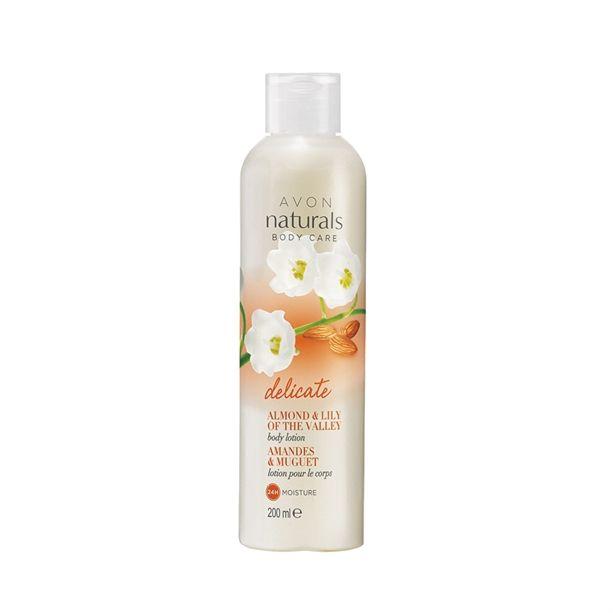 Avon Naturals Jemné tělové mléko s mandlí a konvalinkou -: 200 ml
