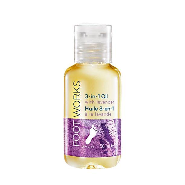 Levandulový olej na nohy 3 v 1 50ml na masáže a koupele Avon