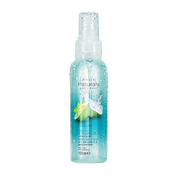 Naturals - Osvěžující tělový sprej s kokosem a karambolou -: 100ml Avon