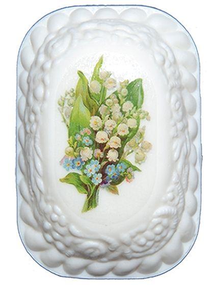 Kosmetické mýdlo přírodní KONVALINKA s etiketou 115g s olejem z hroznových jader For Merco