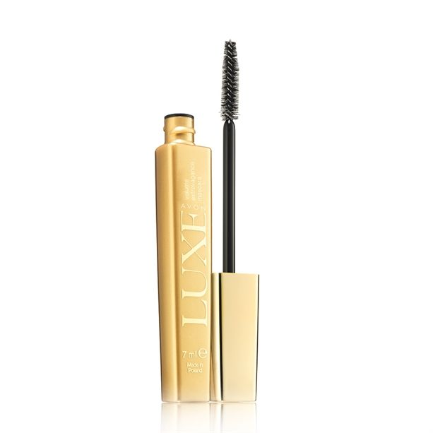 Hedvábná řasenka Luxe Extravagance (Volumizing Mascara) -: 7 ml Caviar Black Avon