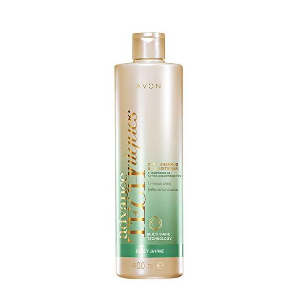 Šampon Advance Techniques Daily Shine 2 v 1 šampon a kondicioner 400ml pro všechny typy vlasů Avon
