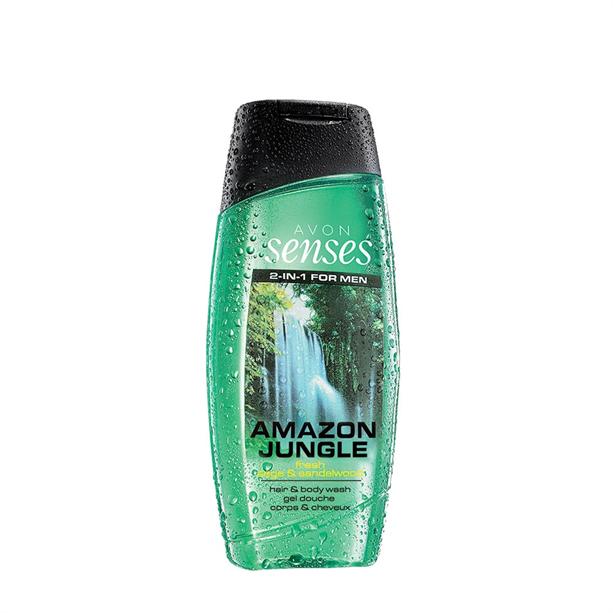 Senses Amazon Jungle sprchový gel -: 250 ml Avon
