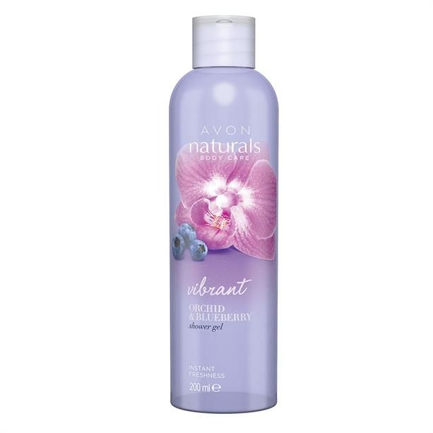 Avon Naturals Sprchový gel s orchidejí a borůvkou 200ml