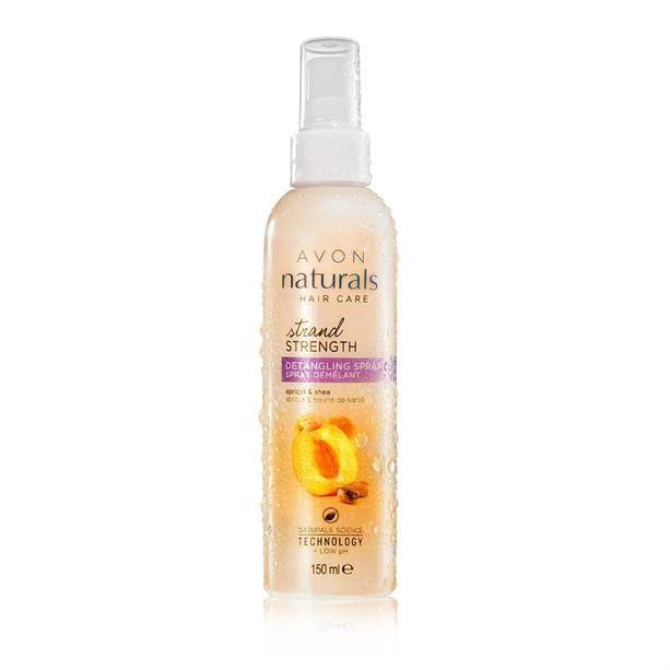 Avon Naturals Sprej pro usnadnění rozčesávání s meruňkou a bambuckým máslem 150ml