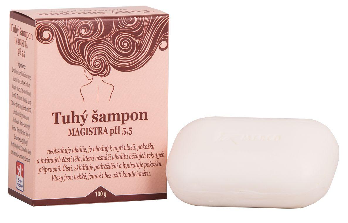 Tuhý šampon na vlasy a pokožku pH 5,5 MAGISTRA 100g For Merco
