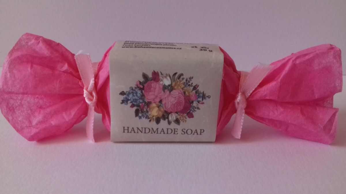 Mýdlo ručně vyráběné růžové Victorian Style 30g s vůní růže Bohemia Gifts