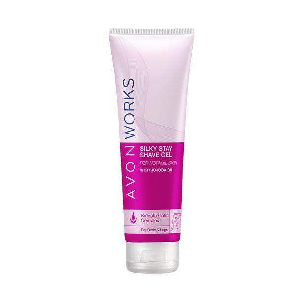 Hydratační gel na holení s jojobovým olejem pro hladké nohy Avon