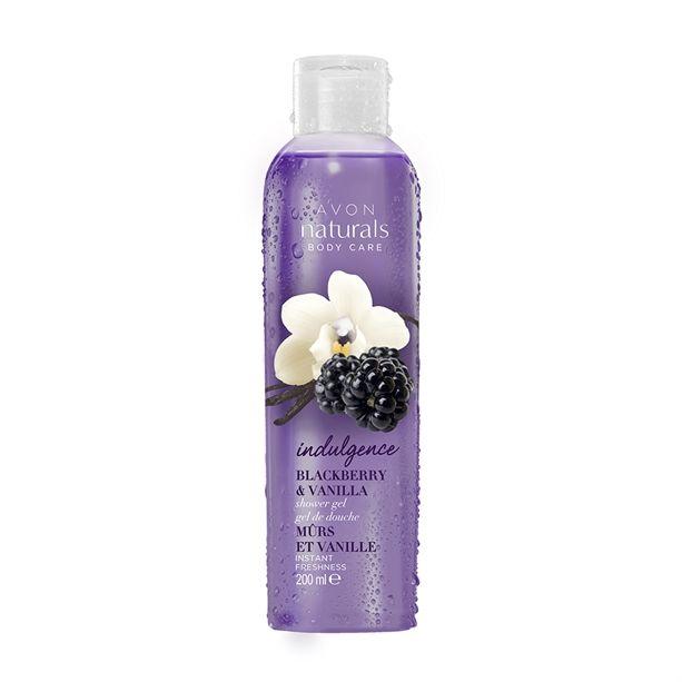 Naturals Sprchový gel s vůní ostružin a vanilky -: 200 ml Avon