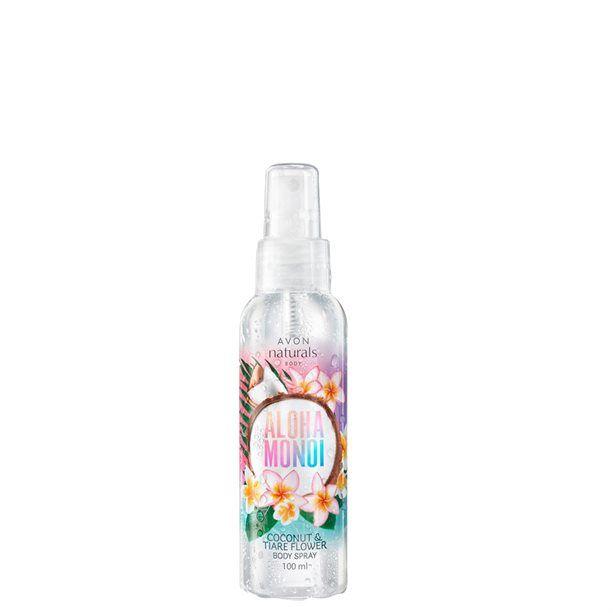 Naturals Tělový sprej Aloha Monoi -: 100ml - kokos a tiaré Avon