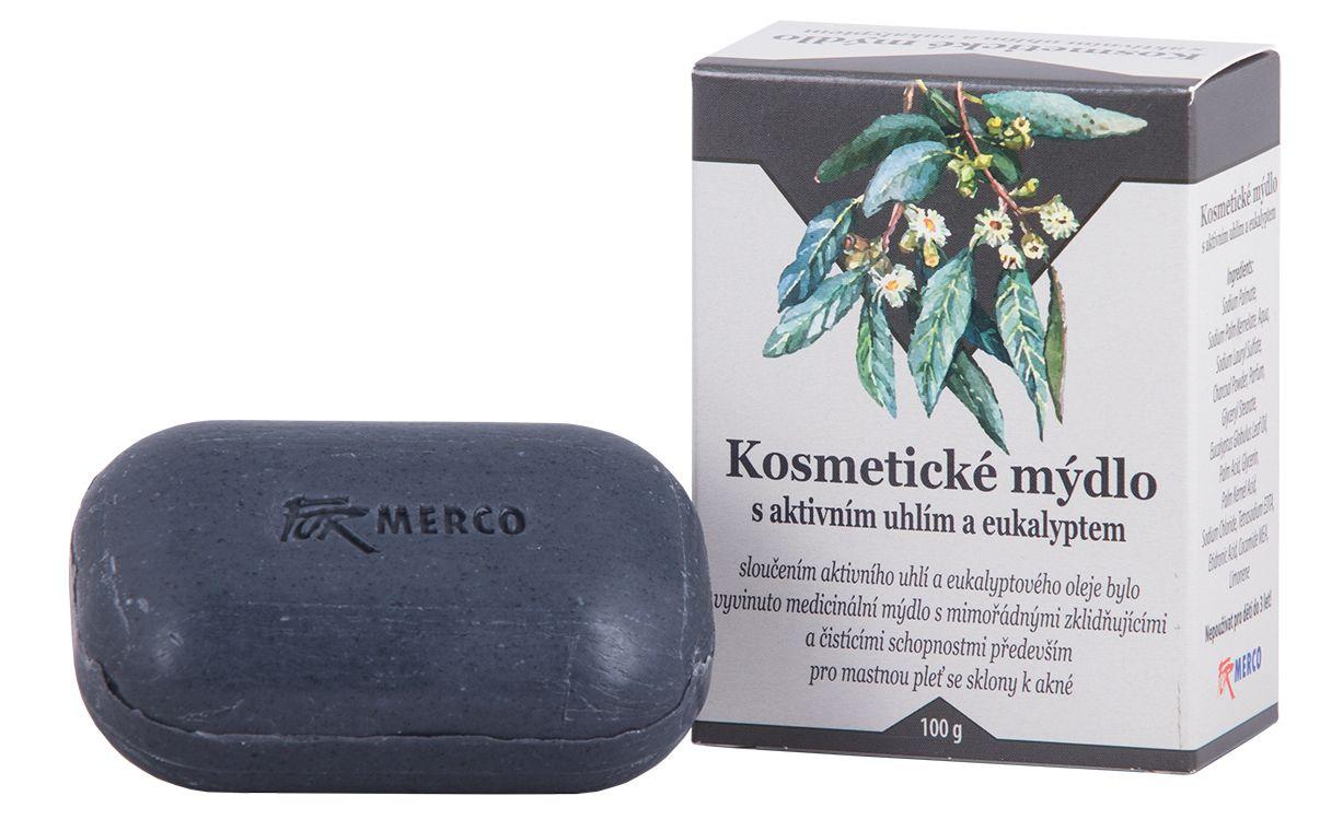 Kosmetické mýdlo s aktivním uhlím a eukalyptem -:100g - pro mastnou pleť Formerco