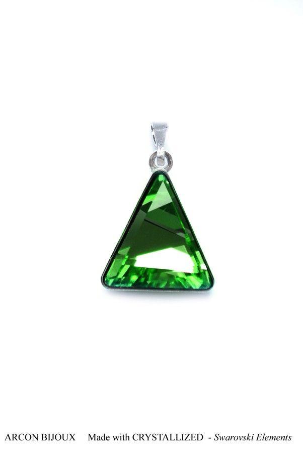 Přívěsek Swarovski Elements Delta Emerald