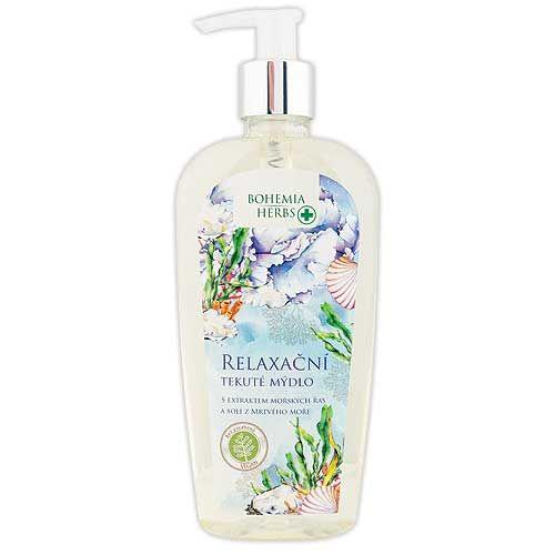 Relaxační tekuté mýdlo s extraktem mořských řas a solí z Mrtvého moře -: 300 ml Mediabox - Bohemia Herbs