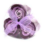 Sada 3 Mýdlových Květů - Levandulové Růže
