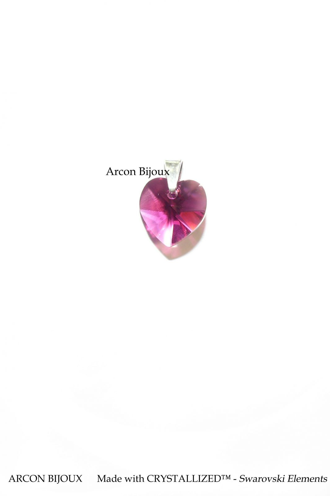 Swarovski srdce - fuchsia ARCON BIJOUX